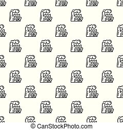 Eco factory pattern seamless vector