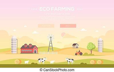 Eco farming - modern flat design style vector illustration