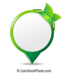 eco, feuille verte, étiquette