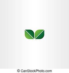eco, feuille verte, logo, élément