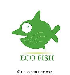 eco fish vector illustration