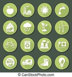 ECO flat icons