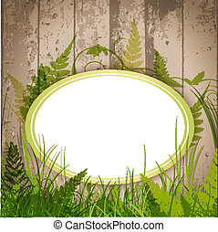 eco floral label over wooden background with copyspace for...