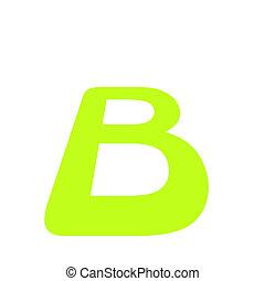 Eco font letter. Vector illustration.