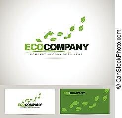 Eco Foot Print Logo Design. Creative logo concept with feet...