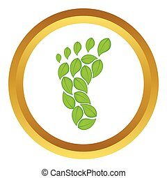 Eco footprint vector icon