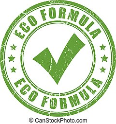 Eco formula rubber stamp