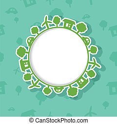 Eco Frame on Seamless Background