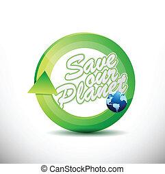 eco friendly 360 design concept illustration