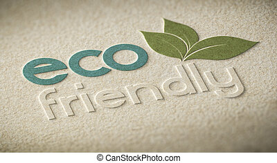 Eco Friendly - 3D illustration of an eco friendly label...