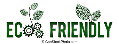 Eco Friendly Banner - Image with text echo friendly with...