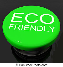 Eco Friendly Button As Symbol For  Recycling Or Nature