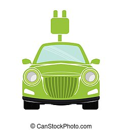 eco friendly car icon image