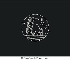 Eco-friendly city district - modern flat design style vector...