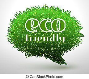 Eco friendly concept or emblem
