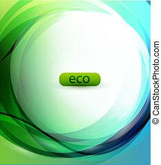 eco-friendly, glob, bakgrund