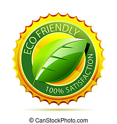 Eco friendly gold icon