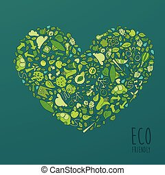 Eco Friendly, Green Energy Concept, Flat Vector