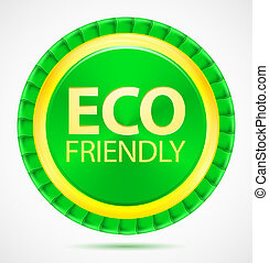 Eco friendly, green label, vector