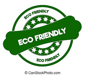 ECO FRIENDLY green stamp.