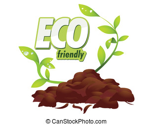 Eco friendly - Grounded on a white background seedlings