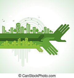 eco friendly hand concept