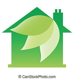 Eco friendly house design.