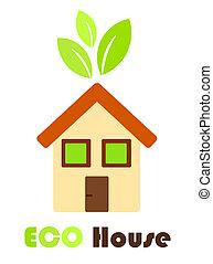 Eco friendly house - Environmental friendly symbolic house ...