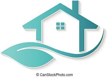 Eco friendly house logo.