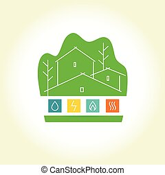 Eco-friendly house. logo