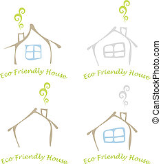 Eco friendly house - Stylized image of the eco friendly ...