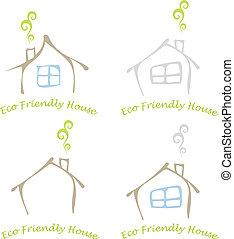 Eco friendly house - Stylized image of the eco friendly ...