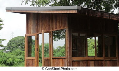 Eco friendly hut?in raining day - Eco friendly hut in...