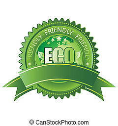 eco-friendly icon - vector green eco-friendly icon