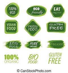 Eco friendly labels set