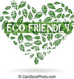 Eco friendly logo. Vector graphic design