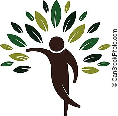 Eco friendly people logo