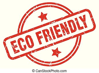 eco friendly round grunge isolated stamp