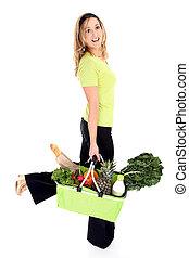 Eco friendly shopper or consumer - No more plastic bags. Eco...