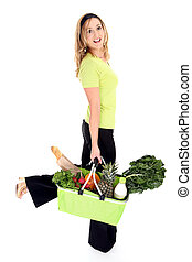 Eco friendly shopper or consumer - No more plastic bags. Eco...