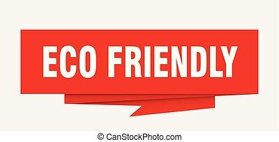 eco friendly sign. eco friendly paper origami speech bubble....