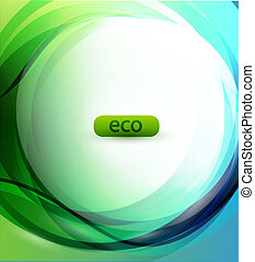 Eco-friendly sphere background - Vector illustration for...