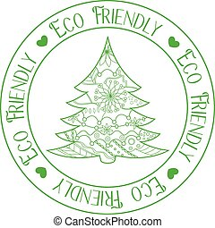 Eco friendly stamp with tree