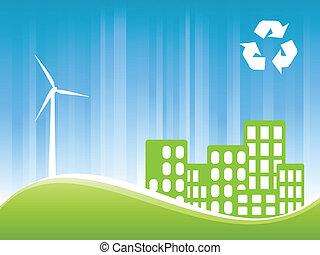 Eco friendly town - Environmentally conscious eco friendly...