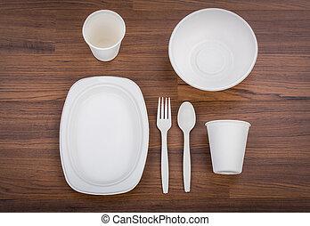 Eco friendly Unbleached plant fiber dishware set : plate,...