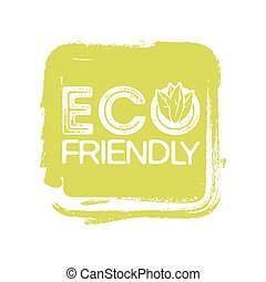 Eco friendly vector stamp