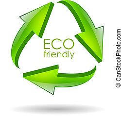 Eco friendly vector symbol - Eco friendly recycle vector...