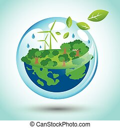 Eco friendly world for Earth Day