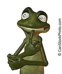 eco, frosch, denken