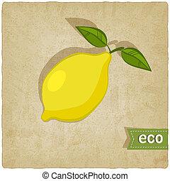 eco, frukt, gammal, bakgrund